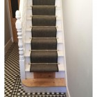 Polished Brass Stair Rods in Situ
