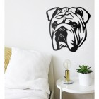 Metal Bulldog Wall Art at Home in the Conservatory