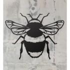 Bumble Bee Wall Art on a Rustic Grey Wall