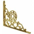 Solid brass wall bracket