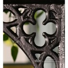 Black Cast Iron Coalbrookdale Shelf Bracket 18 x 13cm