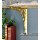 Polished Brass Coalbrookdale 18 x 18cm Shelf Bracket