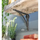 Modern curved natural iron shelf bracket
