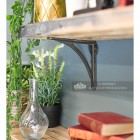 Simplistic design cast iron shelf bracket