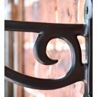 Black Scroll Iron Hanging Basket Bracket Scrolled Details