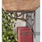 Natural Iron Ornate Shelf Brackets