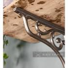 Cast Iron Shelf Bracket with Scroll - 9 x 10cm