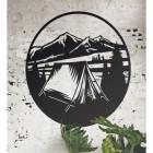 Black Camping Wall Art
