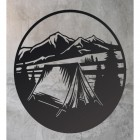 Camping Wall Art in Black