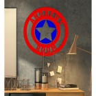 'Captain America' Personalised Wall Art in Situ in the Office