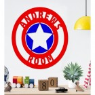 'Captain America' Personalised Wall Art in Situ in the Living Room
