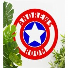 'Captain America' Personalised Wall Art Among Plants in the Home