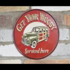 Woody Car Sign