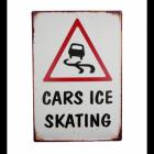 """""""Cars Ice Skating"""" Wall Sign"""