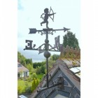 "Rustic ""Churub"" Weathervane in Situ on a Roof"