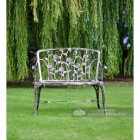 Cast Aluminium Garden Bench With Ornate Rose Detailing