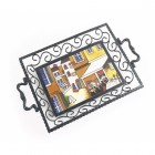 Pavement Cafe Iron & Ceramic Tray