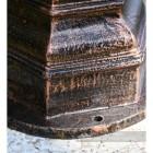 Cast Iron Antique Copper Lamp Post Base