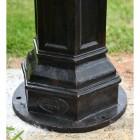 Cast Iron Ornate Lamp Post Base Plate