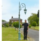 Cast Iron Ornate Swan Neck Lamp Post Scale Shot