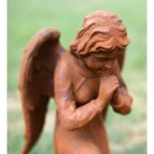 Cast Iron Praying Angel Sculpture - Close up