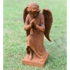 Cast Iron Praying Angel Sculpture