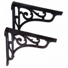 Small cast Iron Brackets finished In Black