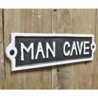 """""""Man Cave"""" Cast Iron Sign in Situ"""