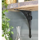 Cast Iron Traditional Wall and Shelf Bracket In Black