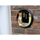 Tabitha Cat & Mouse Hand Painted House Sign