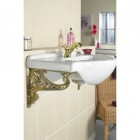 Polished brass Celtic style Bracket - supporting sink