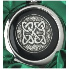 Close-up of the Celtic Knot Design on the Whiskey Flask