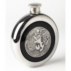 Whiskey Flask With a Celtic Lion Design