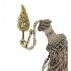 Polished Brass Curtain Hook - Leaf Design