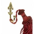 Polished brass Fleur De Lys curtain tie back hook