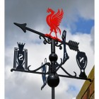 Deluxe Liverpool FC Weathervane Against Sky Backdrop