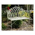"""Cherry Lattice""  Vintage Style Garden Bench"