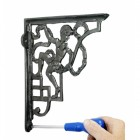 Cherub Shelf Bracket In Black