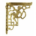 Polished Brass Cherub Wall Bracket