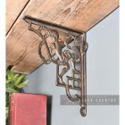 Cherub Iron Shelf Bracket in Situ