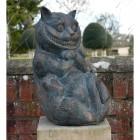 "Antique Bronze ""Cheshire Cat"" Garden Ornament"