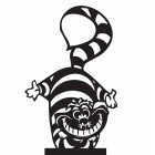 Cheshire Cat Weathervane Top
