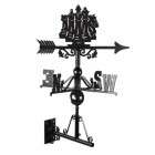 Chess Silhouette At The Top OF The Weathervane