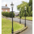 Harrogate Bright Chrome Lamp Post 2.25m