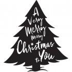 Christmas Tree Steel Wall Art in Black