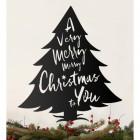 Christmas Tree Steel Wall Art on a Cream Wall