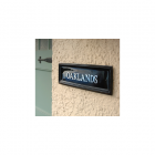 Black Rectangular House Name Signs