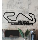 The Circuit de Barcelona-Catalunya Racing Track Wall Art in the Living Room