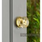 Clear Glass Door Knob in Situ on an Inside Door