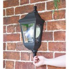 """Clifton"" Flush Wall Mounted Porch Light to Scale"